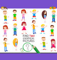 find two identical kid educational game vector image