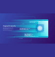 fingerprint security access control vector image vector image