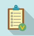 fitness checklist icon flat style vector image