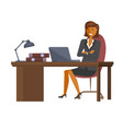 flat design business woman vector image vector image