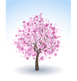 flowering cherry tree vector image vector image