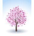 flowering cherry tree vector image vector image