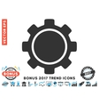 Gear Flat Icon With 2017 Bonus Trend vector image vector image