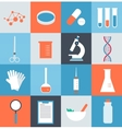 icons medical laboratory vector image vector image