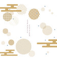 japanese pattern with geometric background vector image