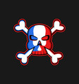 jolly roger logo skull with crossbones vector image