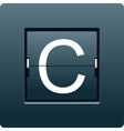 Letter C from mechanical scoreboard vector image vector image