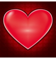 Love background with heart for Valentines day vector image vector image