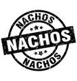 nachos round grunge black stamp vector image vector image