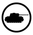 Panzer button on white vector image vector image