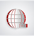 Paper cut global technology or social network icon