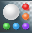 photorealistic ball set template vector image
