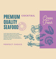 premium quality seafood cocktail abstract vector image vector image