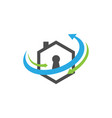 realty security protection logo design vector image