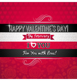red color background with valentine heart vector image vector image