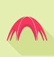 red event tent icon flat style vector image vector image