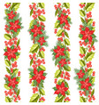 red poinsettia flower pattern seamless holiday vector image vector image