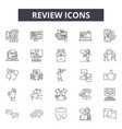 review line icons signs set outline vector image vector image