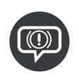 Round alert dialog icon vector image vector image