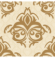 seamless baroque damask luxury golden background vector image vector image