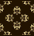 seamless luxury golden pattern vector image vector image