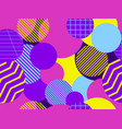 seamless pattern with circles 1980s style vector image vector image