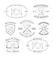 set of heraldic restaurant logos labels vector image