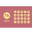 Set of Miami simple icons vector image vector image