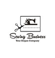 sewing machine logo vector image