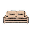 sofa furniture comfort seat pillow decoration vector image