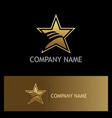 star wing abstract gold company logo vector image vector image
