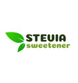stevia leaves symbol isolated on white vector image vector image