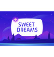 sweet dream night environment with sky vector image vector image