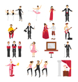 Theatre People Set vector image vector image