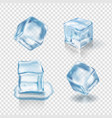 transparent ice cubes realistic vector image