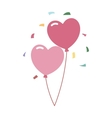 Wedding balloons romantic party decoration vector image