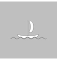 yacht computer symbol vector image vector image