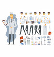 young doctor - cartoon people character vector image vector image