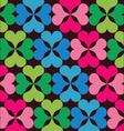 retro floral elements pattern vector image