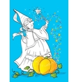 Coloring Book Of Magician From Tale Cinderella vector image