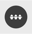 eggs set icon simple vector image