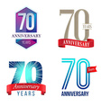 70 Years Anniversary Symbol vector image vector image