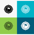 aim business deadline flag focus icon over vector image vector image
