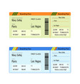 airline boarding pass ticket for traveling vector image