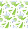 aloe vera gel seamless pattern vector image vector image