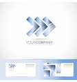 Arrows forward advancing concept logo vector image