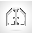 Attic window black line icon vector image vector image