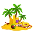Beach Rest Background vector image