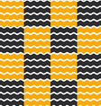 Black and orange wave background seamless pattern vector image