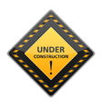 Black Under Construction Sign vector image vector image